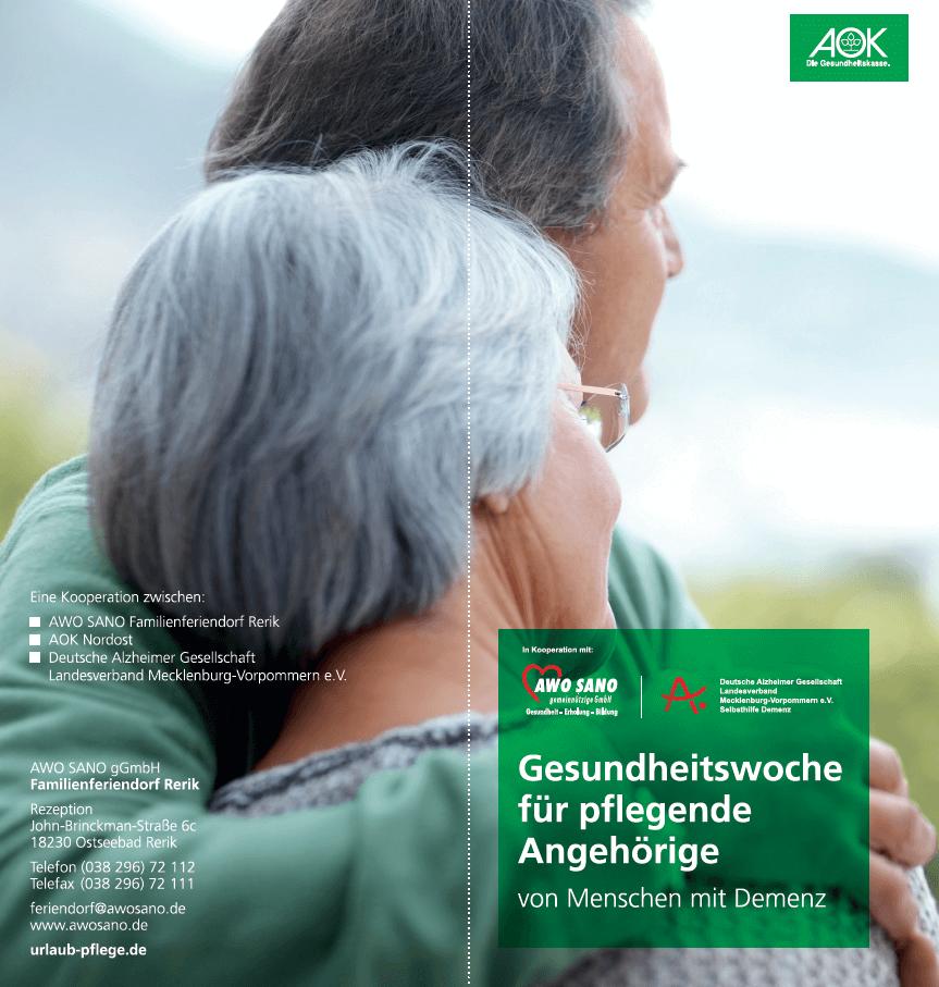 Gesundheitswoche Für Pflegende Angehörige Von Menschen Mit Demenz