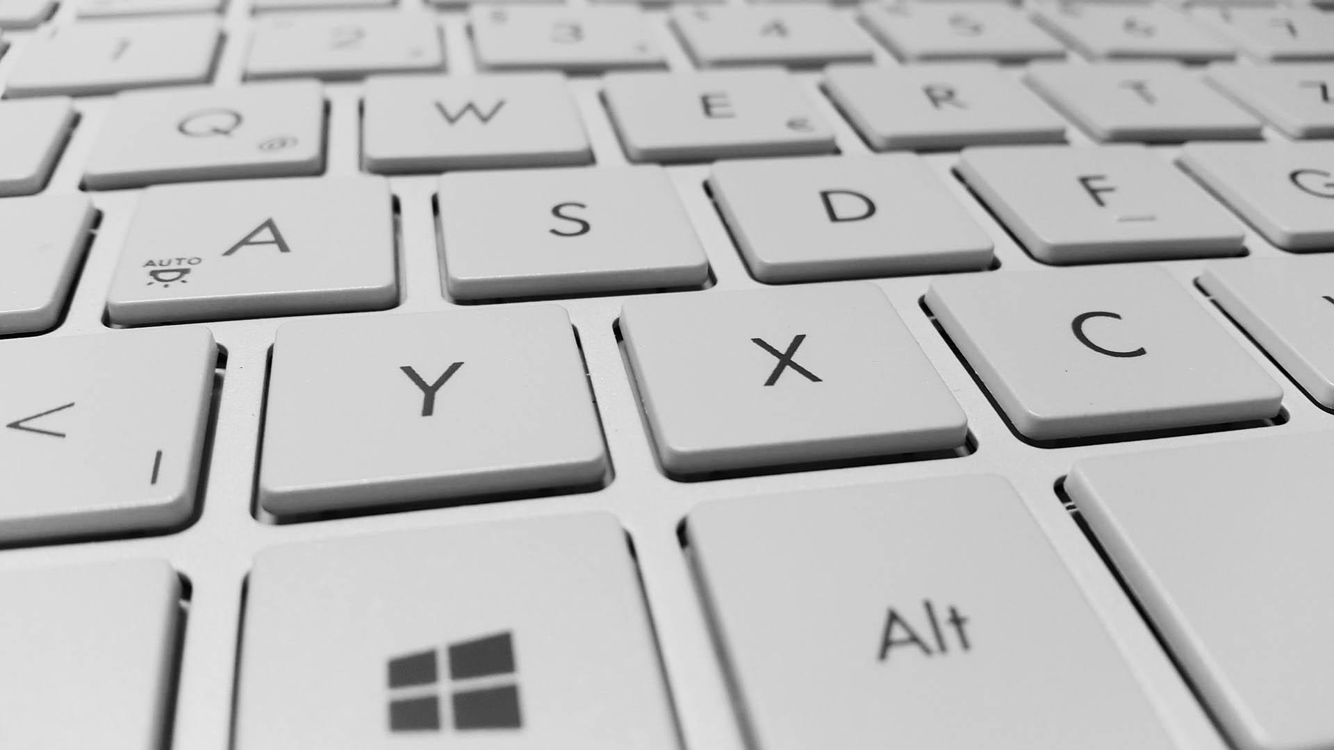 Tastatur in Perspektive