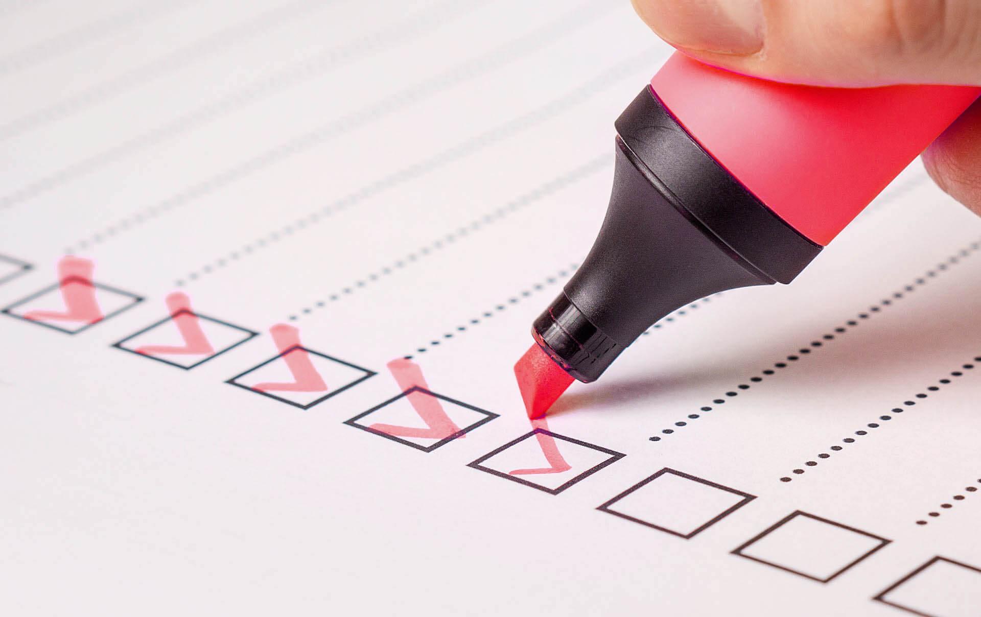 Projekte Checkliste
