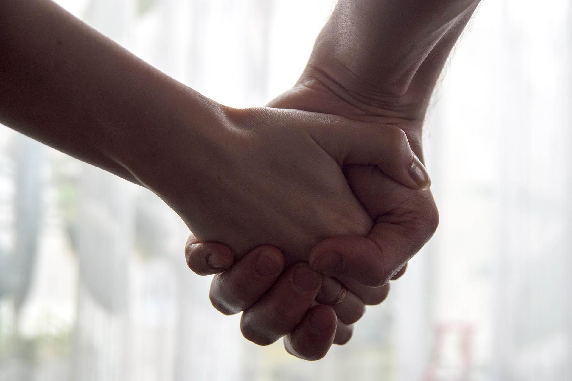 Hand halten